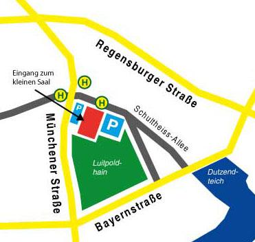 Anfahrtsplan zur Meistersingerhalle